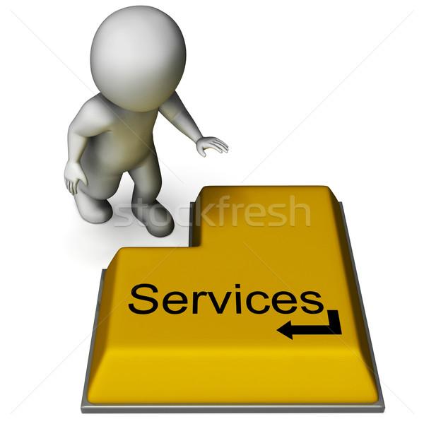 Usług przycisk wsparcie utrzymanie naprawy Zdjęcia stock © stuartmiles