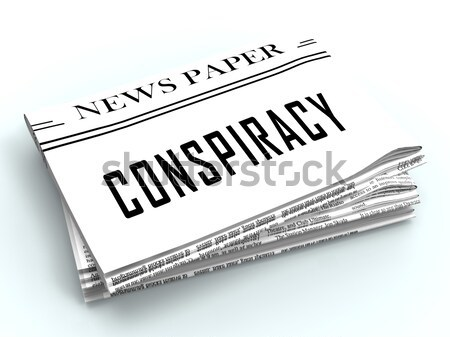 Blank Newspaper With Copyspace Shows News Media Headline Space Stock photo © stuartmiles