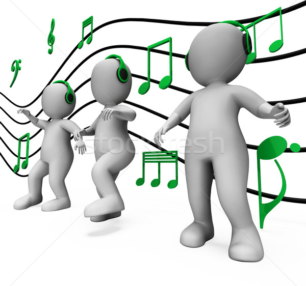Dansen muziek disco partij tonen Stockfoto © stuartmiles