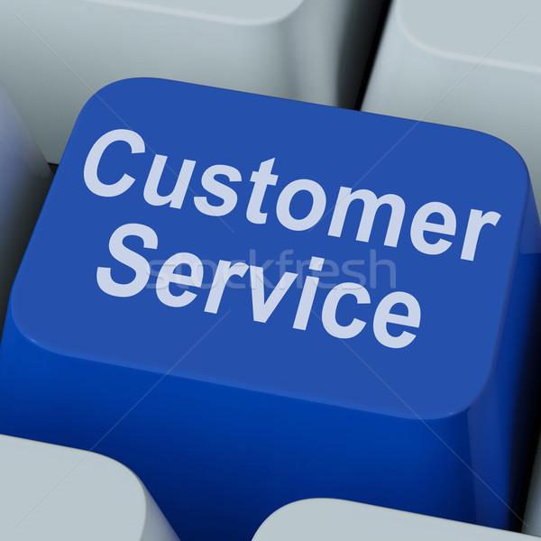Klantenservice sleutel online consument ondersteuning tonen Stockfoto © stuartmiles