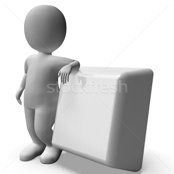 Pushing Blank Button Showing Start Stock photo © stuartmiles