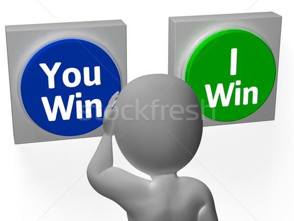 You I Win Buttons Show Opposition Or Gaming Stock photo © stuartmiles