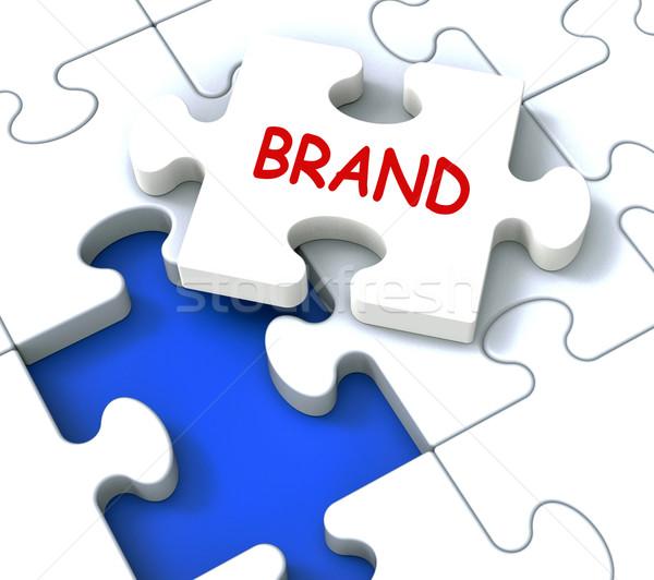 Márka fűrész üzlet branding védjegy termék Stock fotó © stuartmiles
