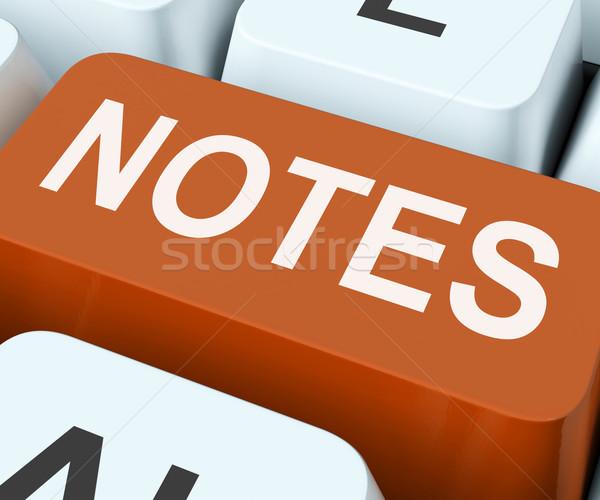 ノート キー 情報 情報をもっと見る ストックフォト © stuartmiles