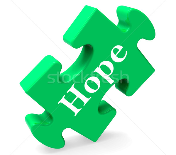 Hope Jigsaw Shows Hoping Hopeful Wishing Or Wishful Stock photo © stuartmiles