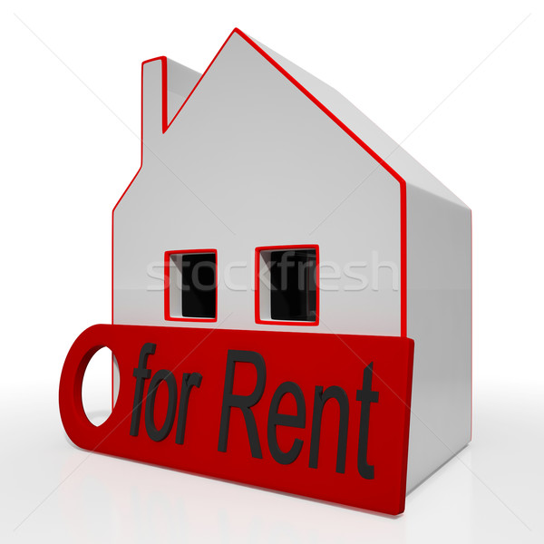 Home For Rent Sign Shows Rental Stock photo © stuartmiles