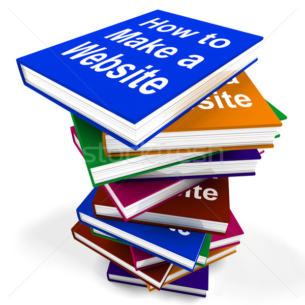 How To Make A Website Book Stack Shows Web Design Stock photo © stuartmiles