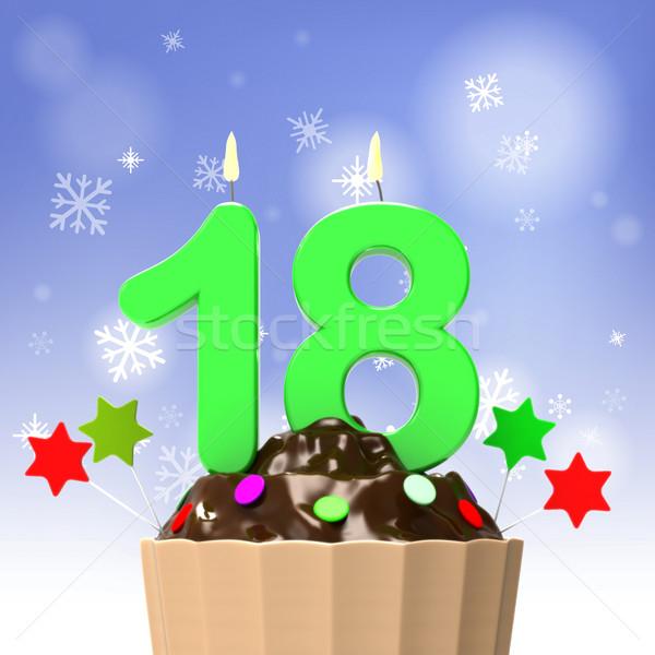 восемнадцати свечу подростков празднование дня рождения восемь Сток-фото © stuartmiles