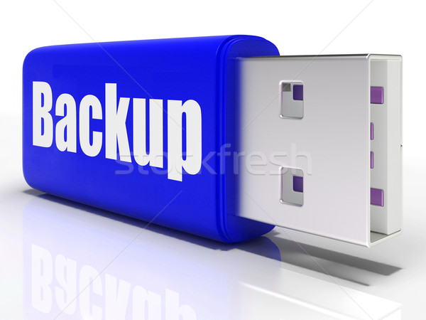 Backup Pen drive Shows Storage Organization Or Data Archiving Stock photo © stuartmiles