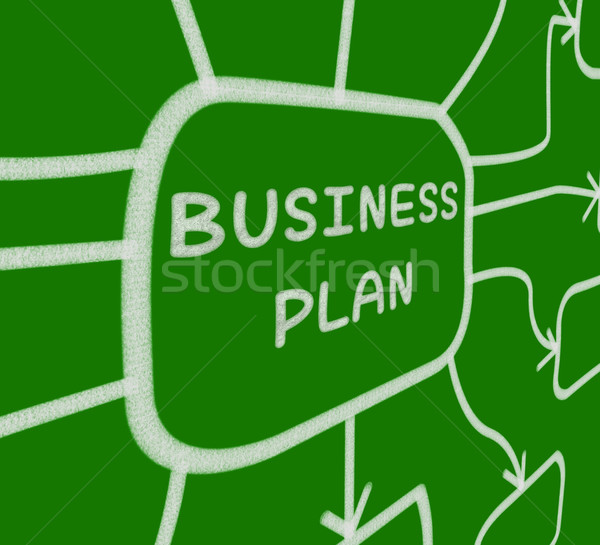 Business Plan Diagram Means Company Organization And Strategy Stock photo © stuartmiles