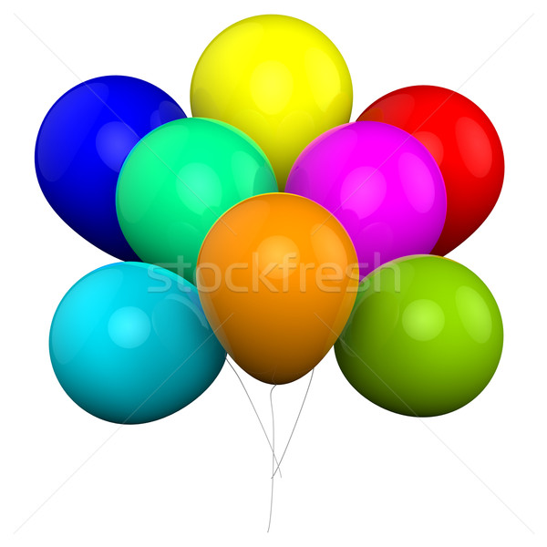 Bunch Of Balloons Shows Carnival Fiesta Or Celebration Stock photo © stuartmiles