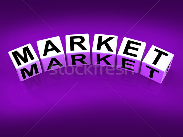 Marché blocs détail forex commerce marketing Photo stock © stuartmiles