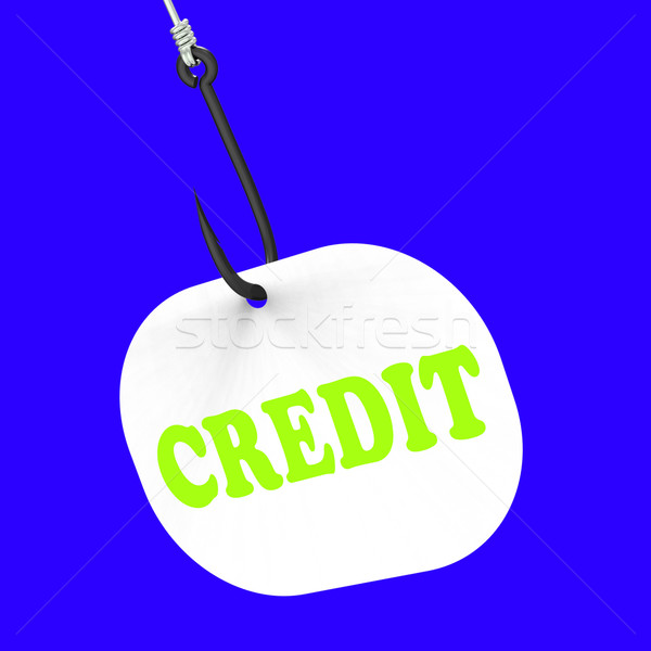 Credit On Hook Means Financial Loan Or Bank Money Stock photo © stuartmiles