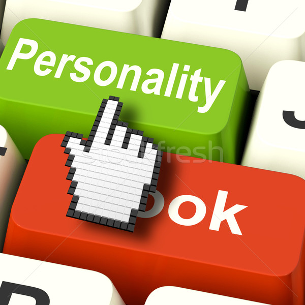 Personality Looks Keys Shows Character Or Superficial Online Stock photo © stuartmiles