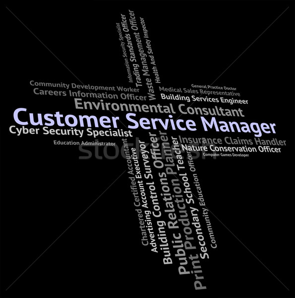 Customer Service Manager Shows Help Desk And Assistance Stock photo © stuartmiles