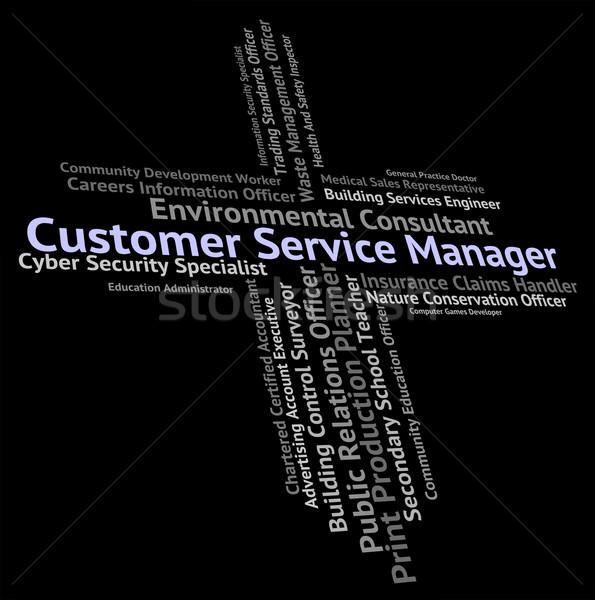 Kundendienst Manager helfen Schreibtisch Hilfe Mitarbeiter Stock foto © stuartmiles