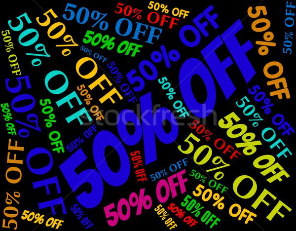 ötven százalék el promo promóció árengedmény Stock fotó © stuartmiles