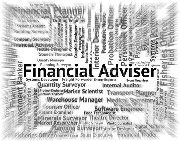 Financial Adviser Shows Position Advisors And Advice Stock photo © stuartmiles