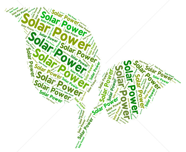 Solar Power Shows Energy Source And Sun Stock photo © stuartmiles