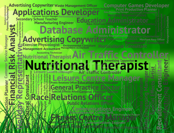 Nutritional Therapist Represents Diet Hire And Therapists Stock photo © stuartmiles