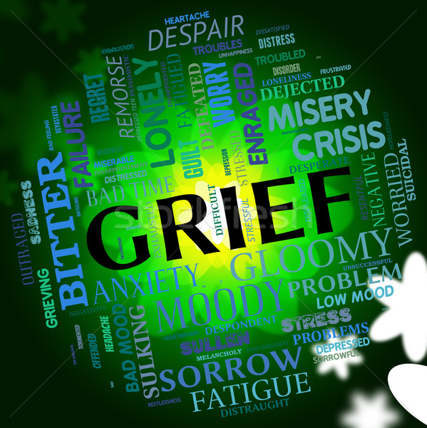 Grief Word Indicates Broken Hearted And Angst Stock photo © stuartmiles