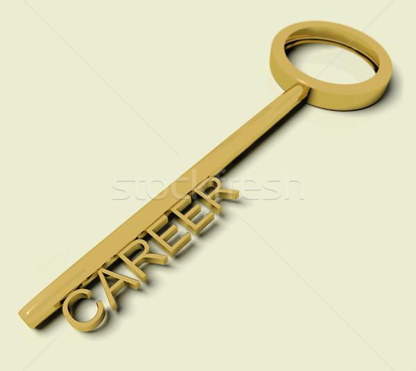 Kariyer metin altın anahtar simge Stok fotoğraf © stuartmiles