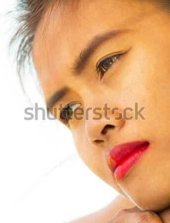 Güzel kız bakıyor bir şey güzel yumuşak Stok fotoğraf © stuartmiles