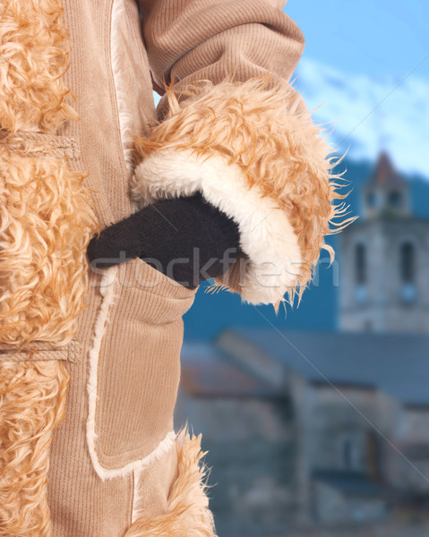 Wearing A Warm Coat And Wooly Gloves Stock photo © stuartmiles