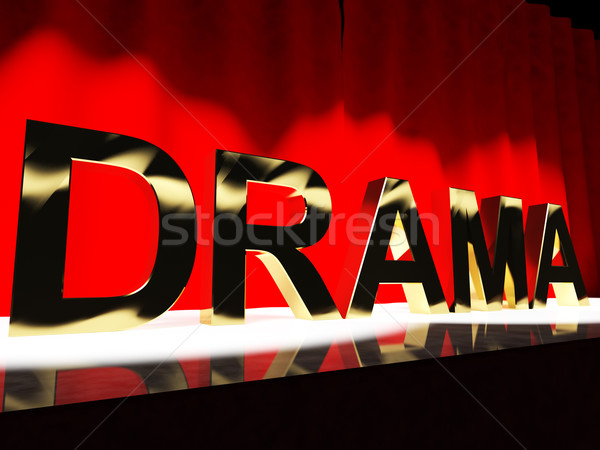 Drama Word On Stage Representing Broadway The West End And Actin Stock photo © stuartmiles