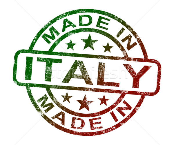 Made In Italy Stamp Shows Italian  Product Or Produce Stock photo © stuartmiles