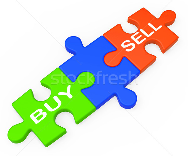 Buy Sell Shows Business Trade Or Stocks Stock photo © stuartmiles