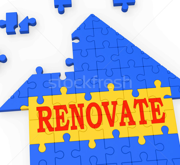 Renovate House Means Improve And Construct Stock photo © stuartmiles