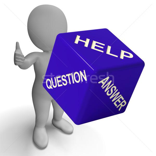 Ajudar pergunta responder dados conhecimento Foto stock © stuartmiles