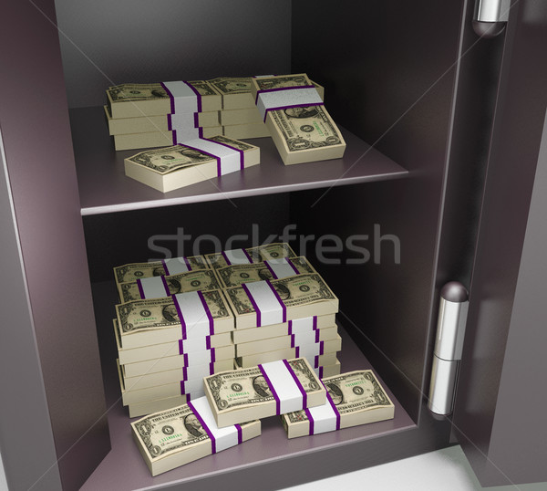 Open Safe With Money Showing Bank Accounts Stock photo © stuartmiles