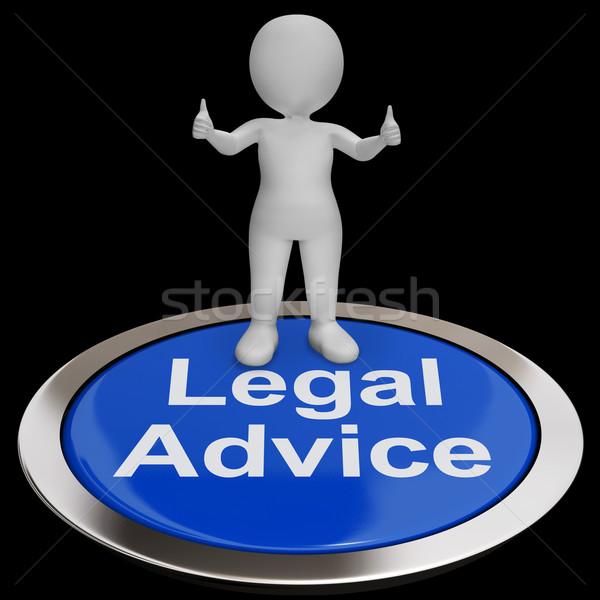 Jogi tanács gomb ügyvéd szakértő útmutatás Stock fotó © stuartmiles