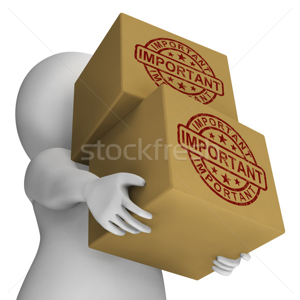 Important Stamp On Boxes Shows Critical Delivery Stock photo © stuartmiles