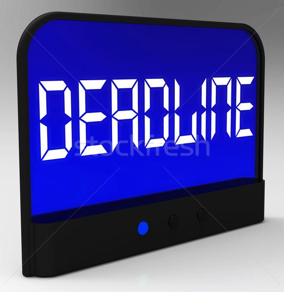 Deadline On Clock Shows Pressure And Countdown Stock photo © stuartmiles