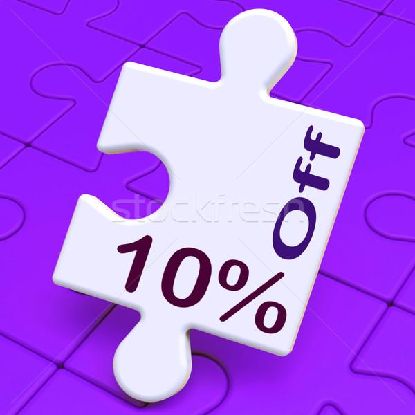 Ten Percent Off Puzzle Means Discounts Or Sale Stock photo © stuartmiles