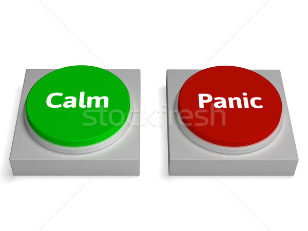 Calm Panic Buttons Show Stressed Or Relaxation Stock photo © stuartmiles