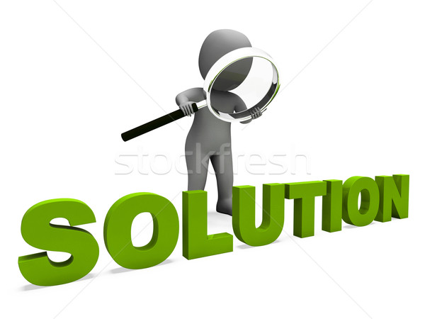 Solution Character Shows Achievement Resolution Succeed And Solv Stock photo © stuartmiles