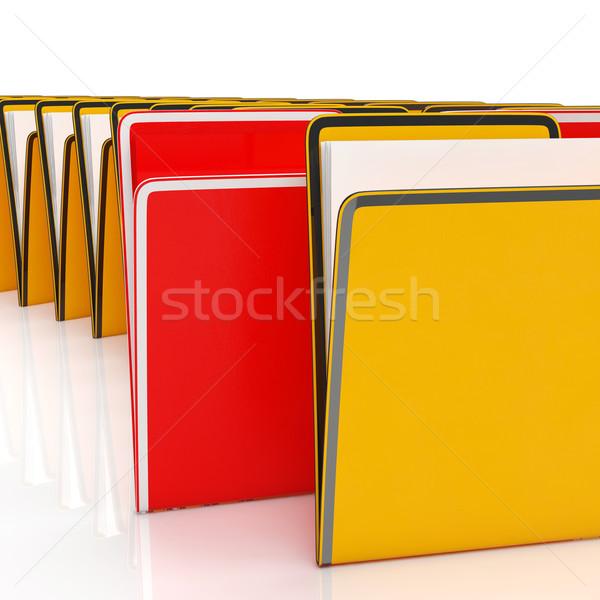 Stockfoto: Mappen · tonen · informatie · rapporten · documenten · papieren