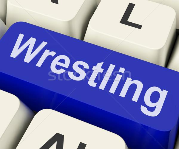 Worstelen sleutel worstelaar vechten online tonen Stockfoto © stuartmiles