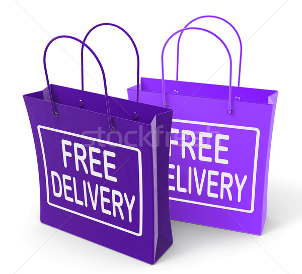 Free Delivery Sign on Bags Show No Charge To Deliver Stock photo © stuartmiles