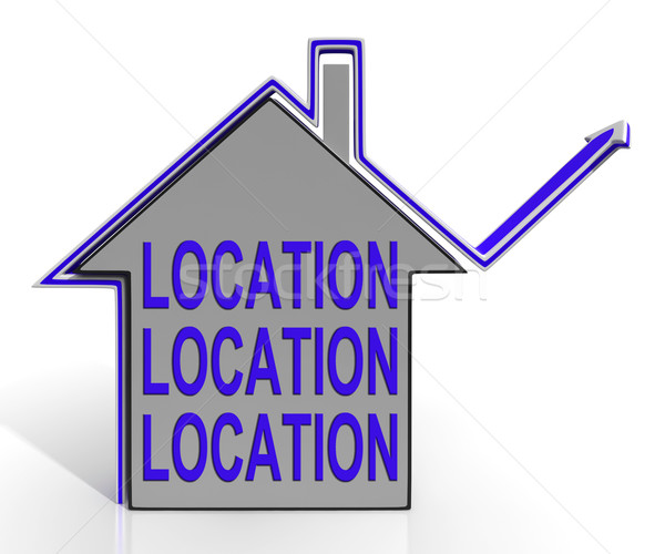 Location Location Location House Means Best Area And Ideal Home Stock photo © stuartmiles