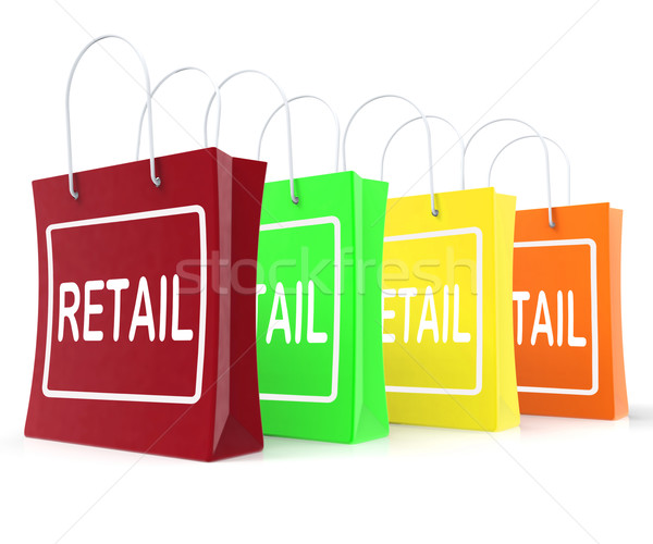 Retail Shopping Bags Shows Buying Selling Merchandise Sales Stock photo © stuartmiles
