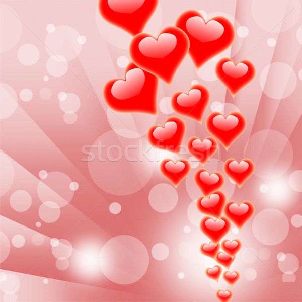 Hearts On Background Shows Valentines Day Or Romanticism Stock photo © stuartmiles