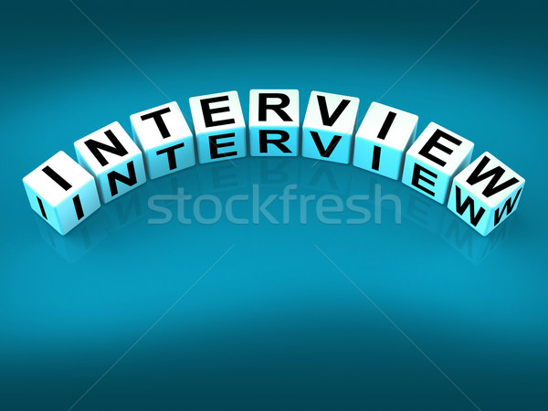 Interview Blocks Mean Conversation or Dialogue When Interviewing Stock photo © stuartmiles