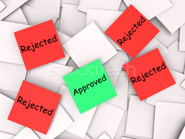 Approved Rejected Post-It Notes Shows Accepted Or Refused Stock photo © stuartmiles