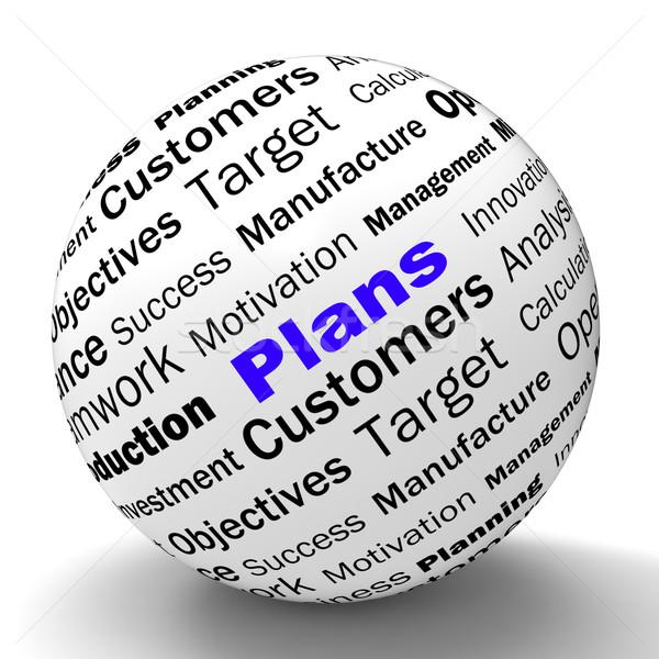 Plans Sphere Definition Shows Customers Target Arrangement Or Ai Stock photo © stuartmiles