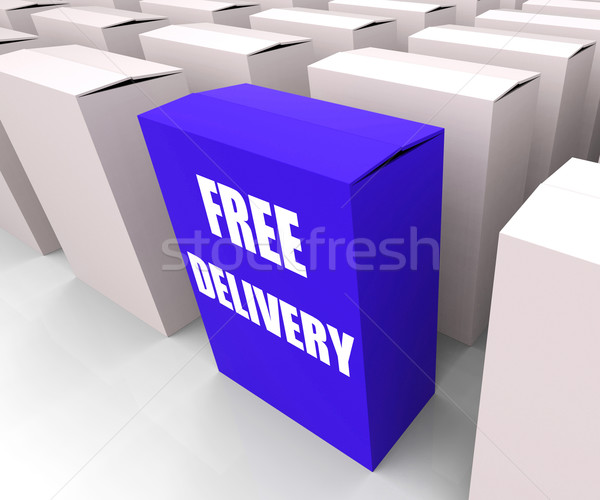 Free Delivery Sign on Box Show No Charge To Deliver Stock photo © stuartmiles